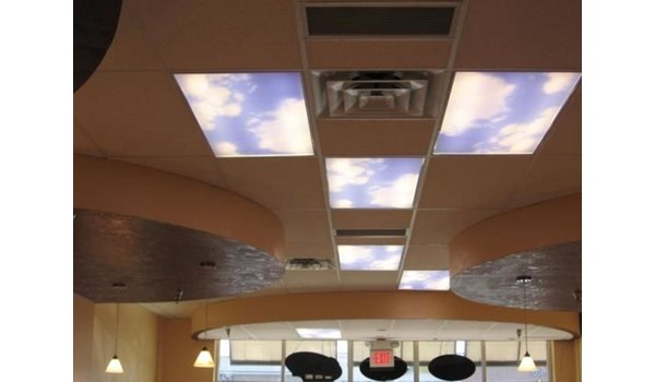 FC017 - Custom Ceiling Graphic for Interior Design